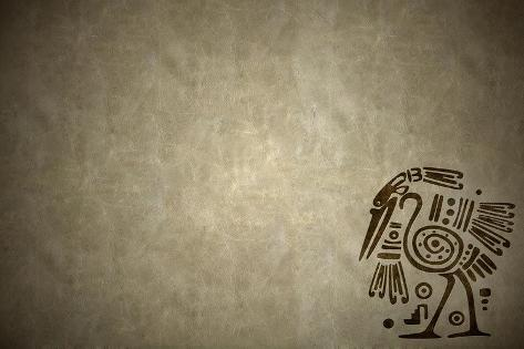 Background With American Indian Traditional Patterns-frenta-Stretched Canvas Print
