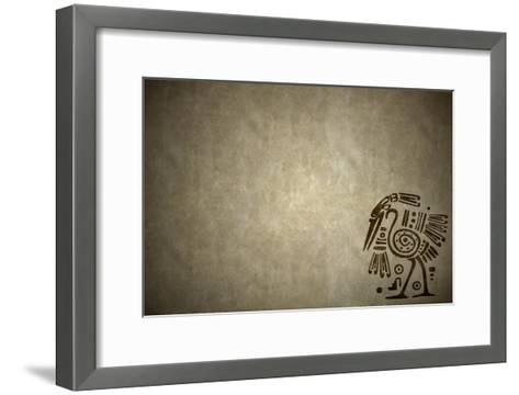 Background With American Indian Traditional Patterns-frenta-Framed Art Print