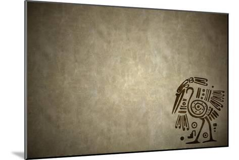 Background With American Indian Traditional Patterns-frenta-Mounted Art Print