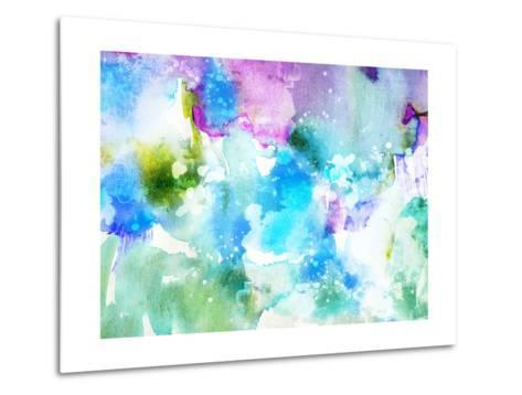 Vivid Abstract Ink Painting On Grunge Paper Texture-run4it-Metal Print