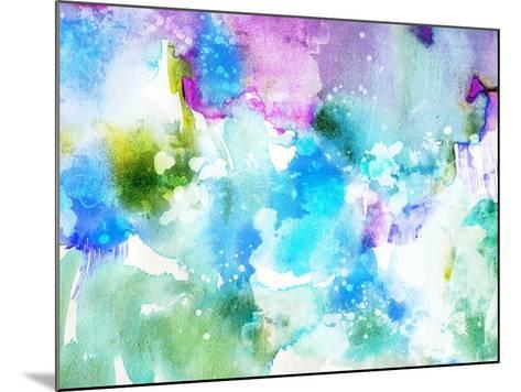 Vivid Abstract Ink Painting On Grunge Paper Texture-run4it-Mounted Art Print