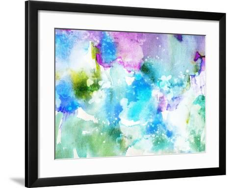 Vivid Abstract Ink Painting On Grunge Paper Texture-run4it-Framed Art Print
