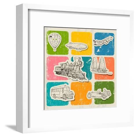 Different Vehicles-yunna-Framed Art Print