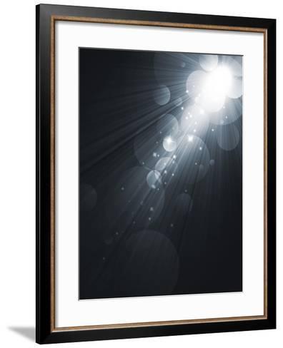 Spotlight Black And White Lighting Equipment-molodec-Framed Art Print