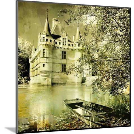 Castle On Water -Artwork In Painting Style-Maugli-l-Mounted Art Print