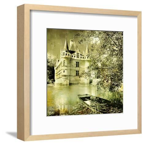 Castle On Water -Artwork In Painting Style-Maugli-l-Framed Art Print