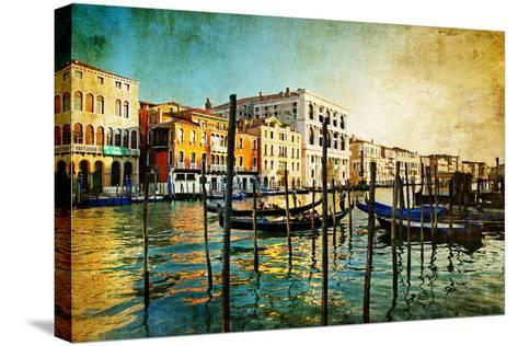 Amazing Venice - Artwork In Painting Style-Maugli-l-Stretched Canvas Print