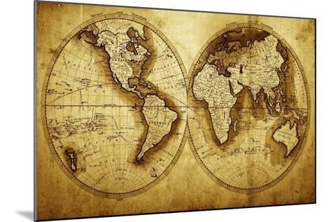 Antique Map Of The World (Circa 1711 Year)-Oleg Golovnev-Mounted Art Print