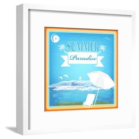 Vintage Beautiful Sea Travel Background-Alex150770-Framed Art Print