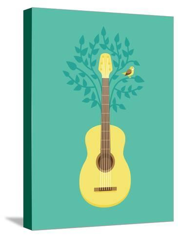 Music Poster In Flat Retro Style-venimo-Stretched Canvas Print