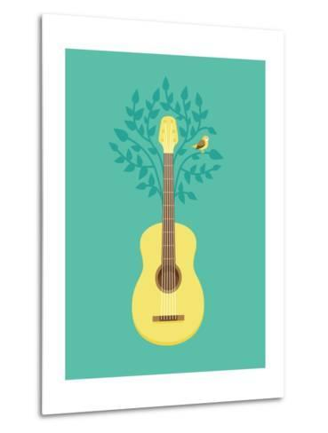Music Poster In Flat Retro Style-venimo-Metal Print