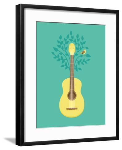 Music Poster In Flat Retro Style-venimo-Framed Art Print