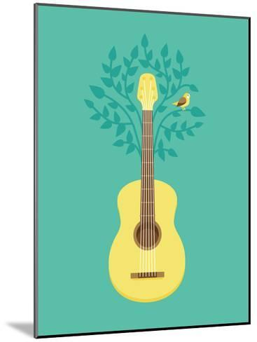 Music Poster In Flat Retro Style-venimo-Mounted Art Print