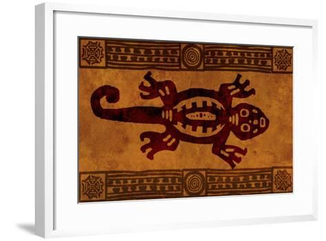 Background With American Indian National Patterns-frenta-Framed Art Print