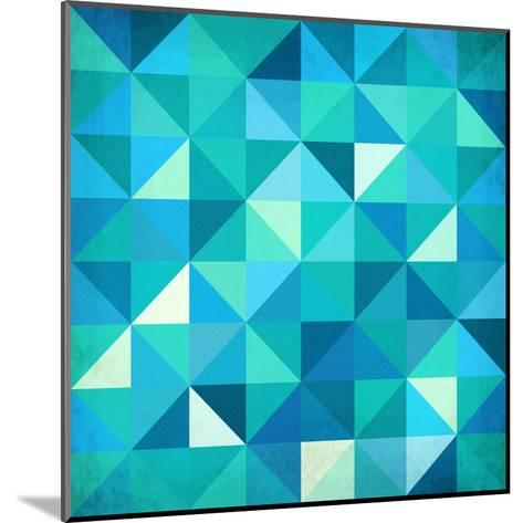 Abstract Colorful Triangles-art_of_sun-Mounted Art Print