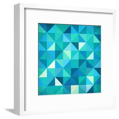 Abstract Colorful Triangles-art_of_sun-Framed Art Print