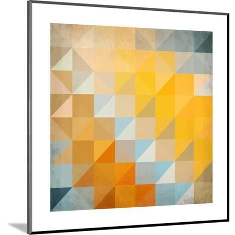 Abstract Triangles Geometry-art_of_sun-Mounted Art Print