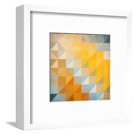 Abstract Triangles Geometry-art_of_sun-Framed Art Print