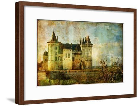 Beautiful Saumur Castle - Vintage Picture-Maugli-l-Framed Art Print