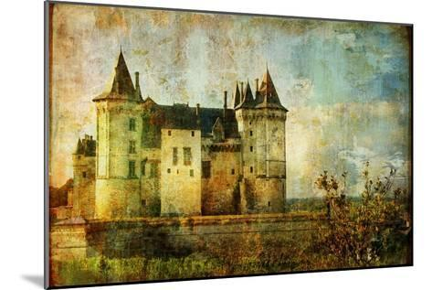 Beautiful Saumur Castle - Vintage Picture-Maugli-l-Mounted Art Print