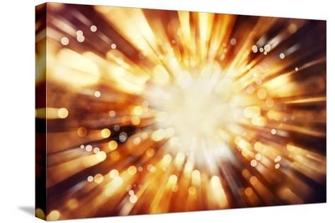 Bright Blast Of Light In Space Background-STILLFX-Stretched Canvas Print