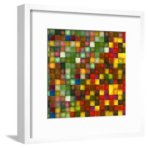 Earthy Geometric Background Image And Design Element-nagib-Framed Art Print