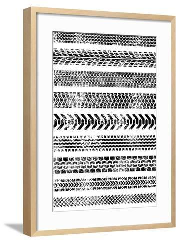 Collection Of Ten High Quality Grunge Tire Tracks-Fourleaflover-Framed Art Print