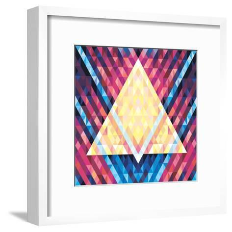 Geometric Pattern 02- serkorkin-Framed Art Print