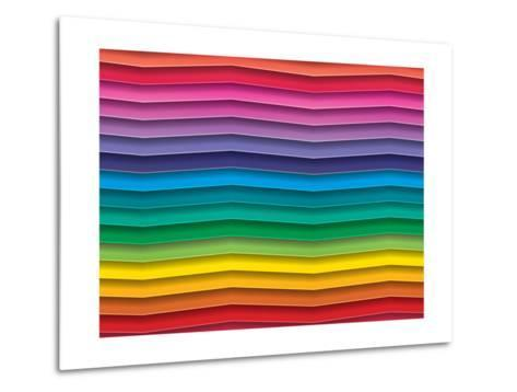 Colorful Background With Horizontal Wave Lines-maxmitzu-Metal Print