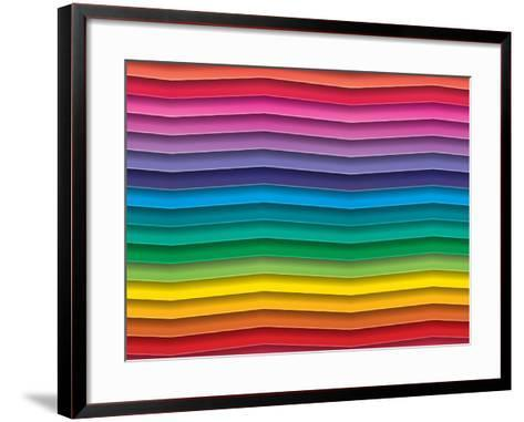 Colorful Background With Horizontal Wave Lines-maxmitzu-Framed Art Print
