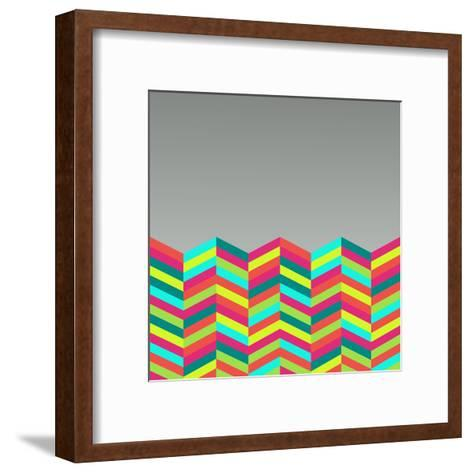 Colorful Abstract Retro Pattern-cienpies-Framed Art Print