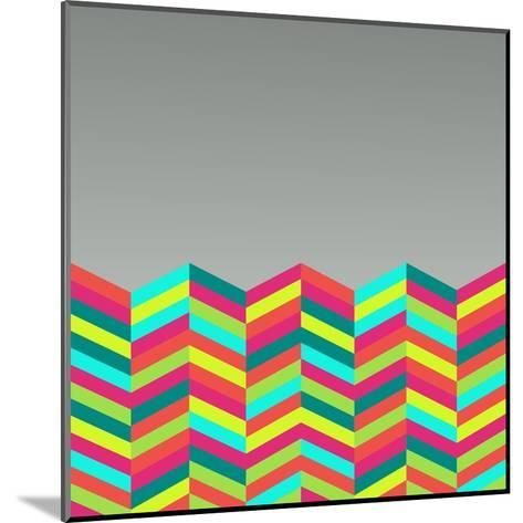 Colorful Abstract Retro Pattern-cienpies-Mounted Art Print