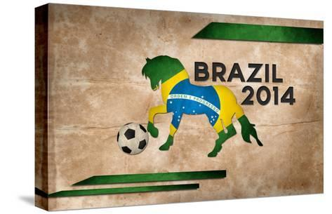 Year Of Football And Horse Of Brazil 2014-NatanaelGinting-Stretched Canvas Print