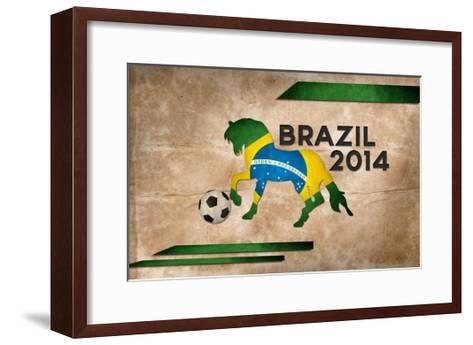Year Of Football And Horse Of Brazil 2014-NatanaelGinting-Framed Art Print