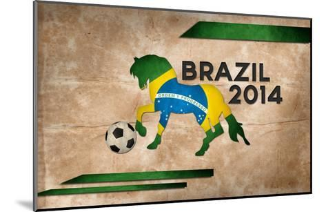 Year Of Football And Horse Of Brazil 2014-NatanaelGinting-Mounted Art Print