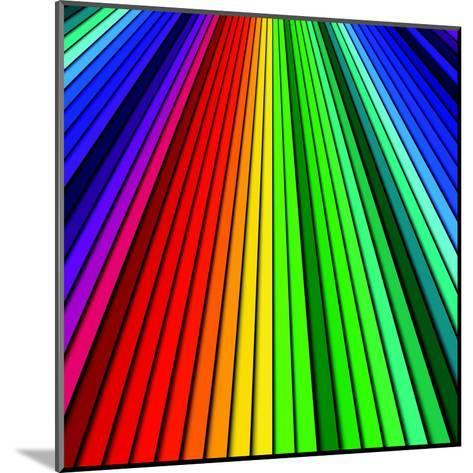 Abstract Color Background Spectrum Lines-Lukas Kurka-Mounted Art Print