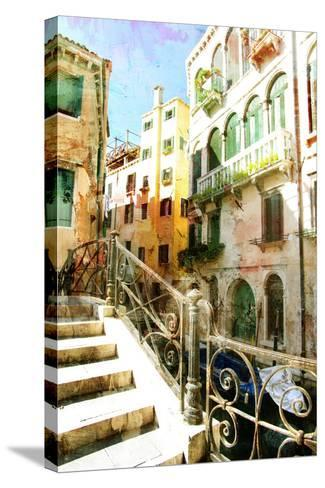 Beautiful Venetian Pictures - Oil Painting Style-Maugli-l-Stretched Canvas Print