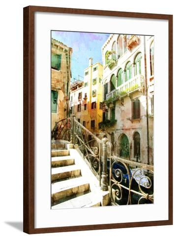 Beautiful Venetian Pictures - Oil Painting Style-Maugli-l-Framed Art Print
