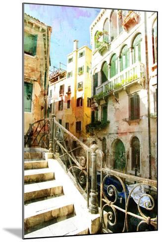 Beautiful Venetian Pictures - Oil Painting Style-Maugli-l-Mounted Art Print