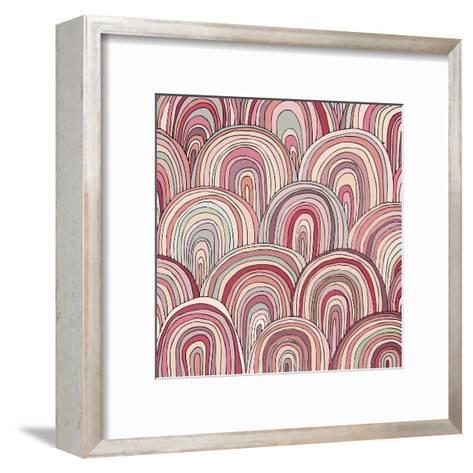 Colorful Circle Modern Abstract Design Pattern-Melindula-Framed Art Print