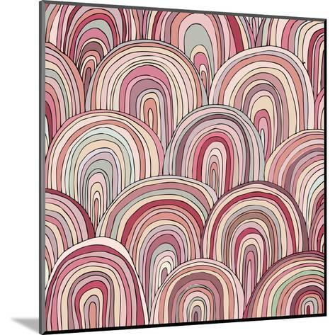 Colorful Circle Modern Abstract Design Pattern-Melindula-Mounted Art Print