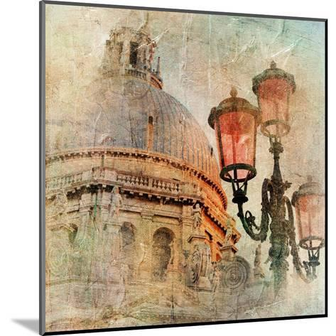 Venetian Pictures - Artwork In Painting Style-Maugli-l-Mounted Art Print