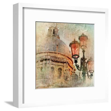 Venetian Pictures - Artwork In Painting Style-Maugli-l-Framed Art Print