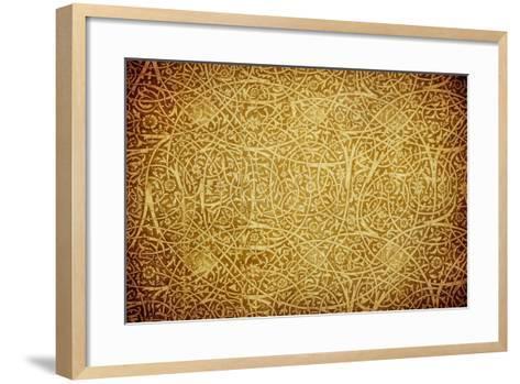 Grunge Background With Oriental Ornaments-javarman-Framed Art Print