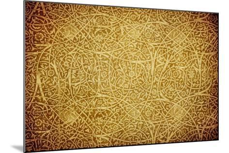 Grunge Background With Oriental Ornaments-javarman-Mounted Art Print