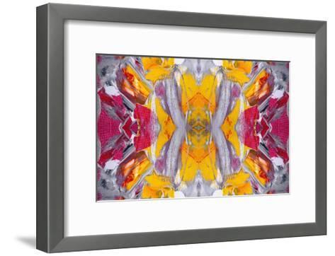 Original Oil Painting Rorschach Abstract--Framed Art Print