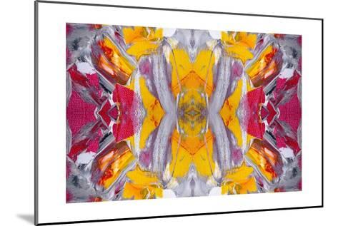 Original Oil Painting Rorschach Abstract--Mounted Art Print