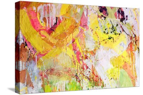 Mixed Technics, Expression Abstract Painting-dpaint-Stretched Canvas Print