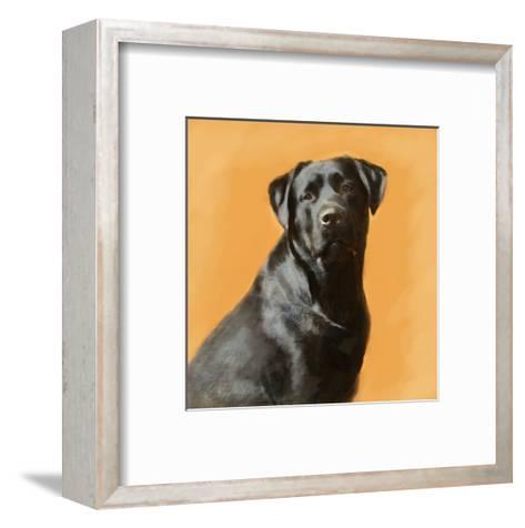 Oil Painting Portrait Of Black Labrador Male-Yarvet-Framed Art Print