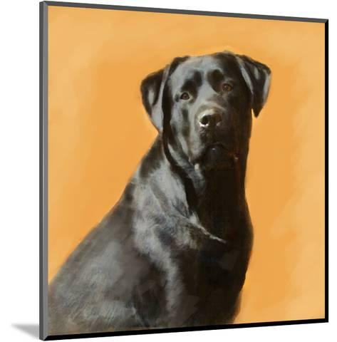Oil Painting Portrait Of Black Labrador Male-Yarvet-Mounted Art Print